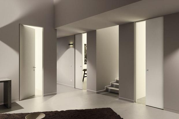 Abbinamento colori pareti tortora e porte bianche